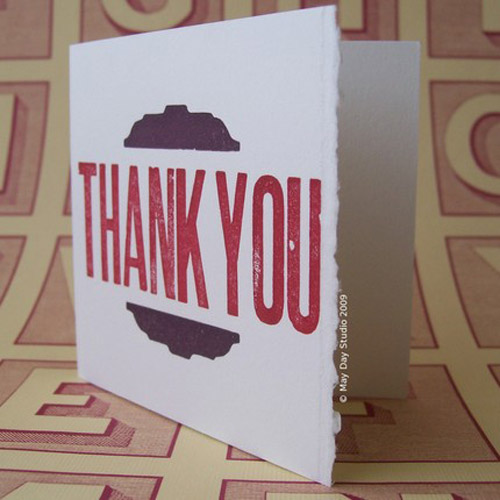 May Day Studio: Thank You Notes
