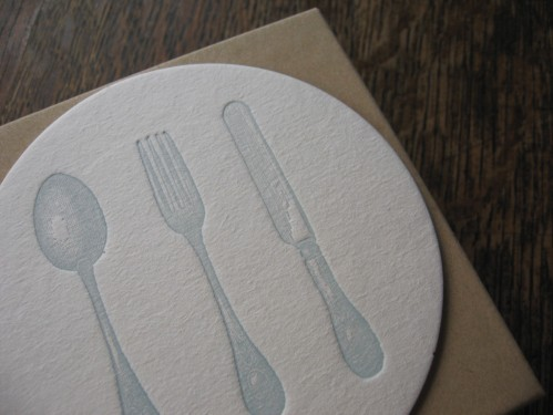Papered Together: Silverware Coaster