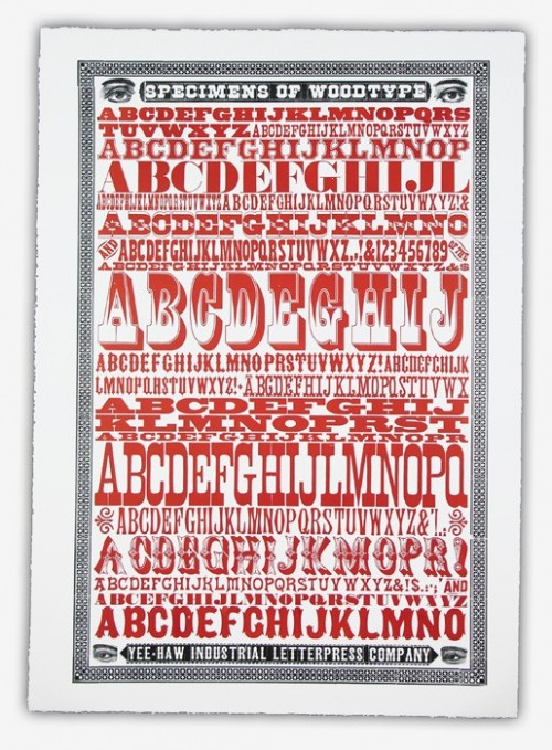 Yee-Haw Industries: Wood Type Poster