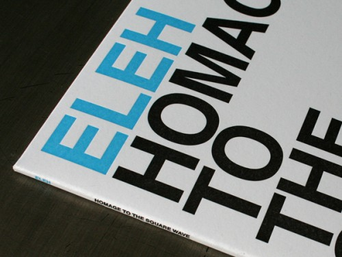 Studio On Fire: Eleh LP Record Jacket Sleeve