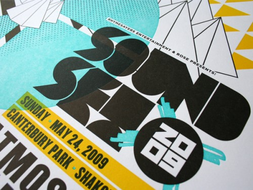Studio On Fire: Soundset Letterpress Poster