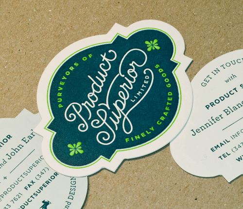 Product Superior: Letterpress + Die Cut Business Cards