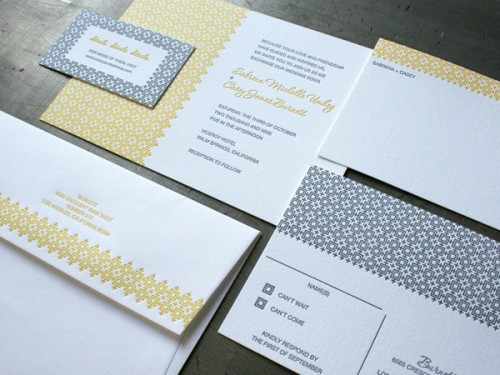 Studio On Fire: Letterpress Pattern Invitation