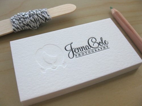 Duet Letterpress: Jenna Cole Business Cards