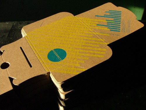 Sensura Studio: The Blind Eyes Letterpress CD Packaging