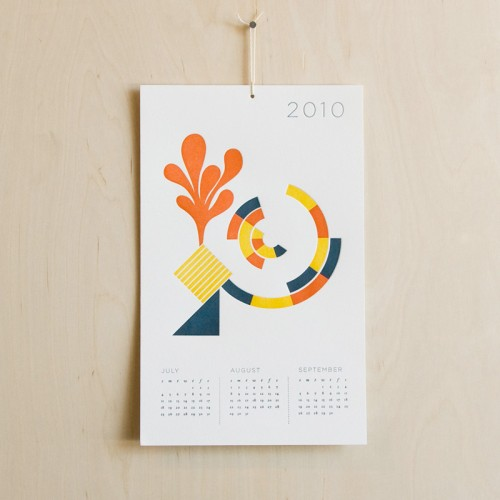Seesaw: 2010 Letterpress Calendar