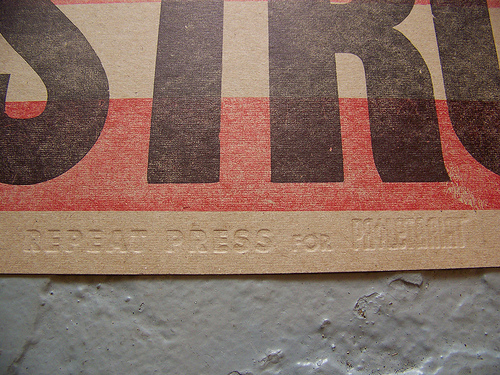Repeat Press: Proletariat Letterpress Collaboration